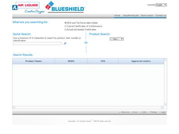 Air Liquide website thumbnail