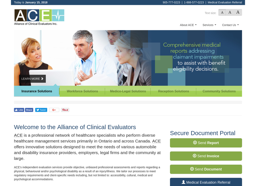 The Alliance of Clinical Evaluators website thumbnail