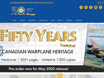 Canadian Warplane Heritage Museum website thumbnail