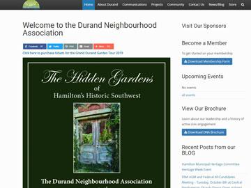 Durand Neighbourhood Association website thumbnail
