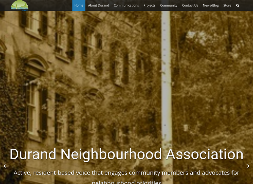 Durand Neighbourhood Association website thumbnail