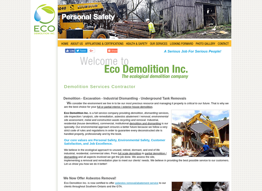 Eco Demolition website thumbnail