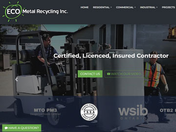 Eco Metal Recycling website thumbnail