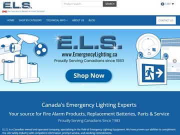 Emergency Lighting Service website thumbnail