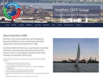 Hamilton Community Awareness and Emergency Response (CAER) website thumbnail