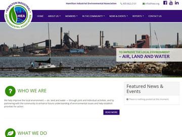 Hamilton Industrial Environmental Association website thumbnail