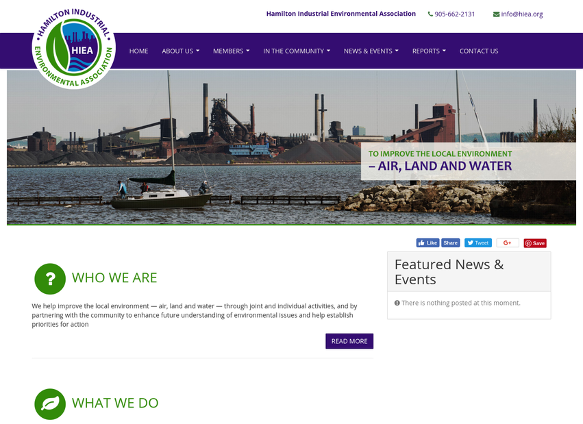 Hamilton Industrial Environmental Association website thumbnail