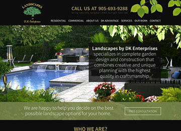 Landscapes By DK Enterprises website thumbnail