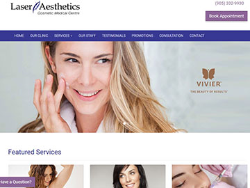 Laser Aesthetics website thumbnail
