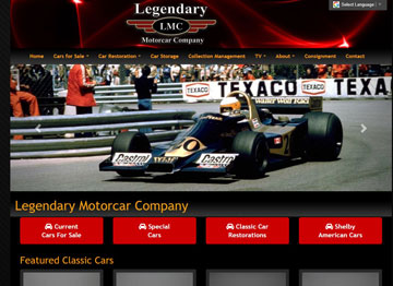 Legendary Motorcar website thumbnail
