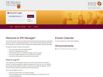 McMaster University website thumbnail