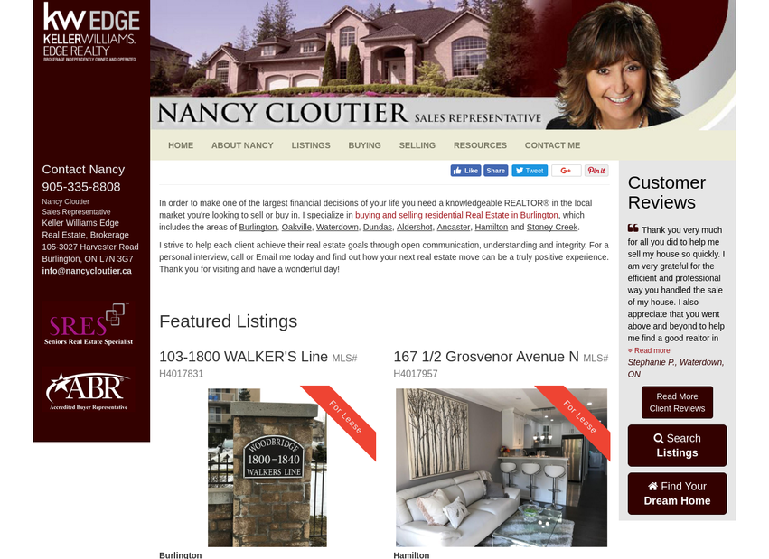 Nancy Cloutier website thumbnail