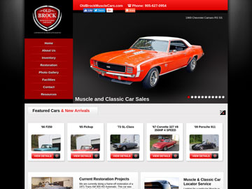 Old Brock Auto Sales website thumbnail