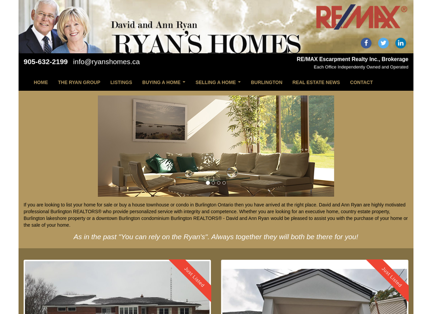 The Ryan Group website thumbnail