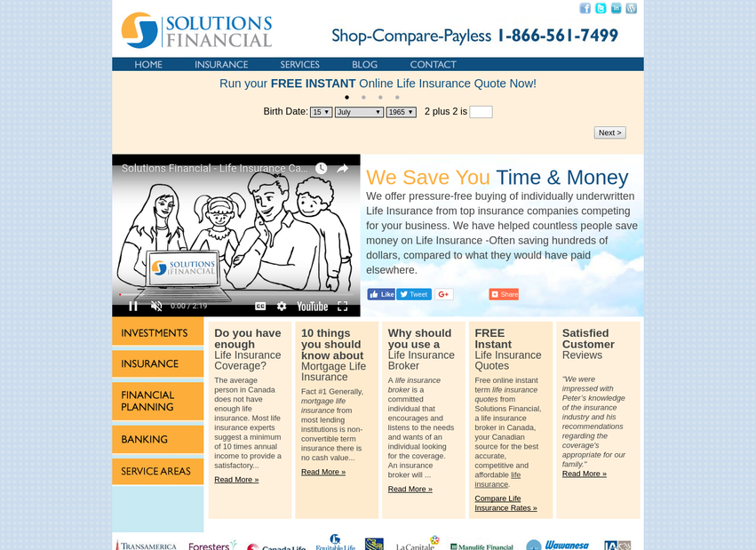 Solutions Financial website thumbnail
