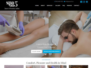 Spa on 5 Laser and Beauty Salon website thumbnail