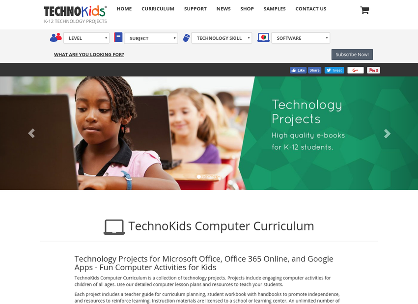TechnoKids website thumbnail