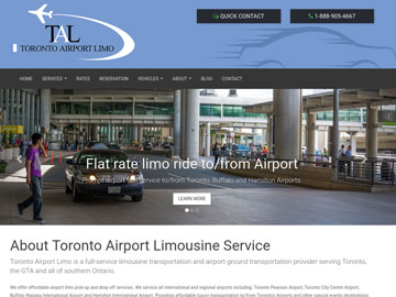 Toronto Airport Limo website thumbnail