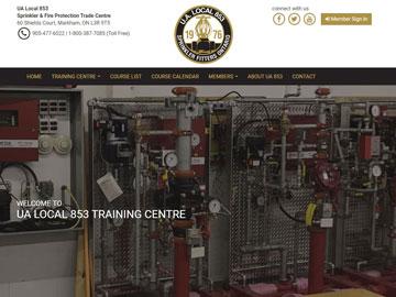 UA Local 853 Training Centre website thumbnail