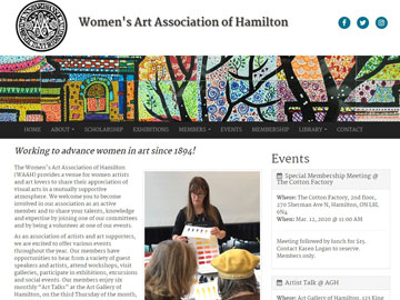 Women's Art Association of Hamilton website thumbnail